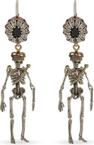Alexander McQueen Jewelled skeleton earrings