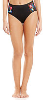 Kenneth Cole Reaction Garden Groove Embroidered High Waist Mesh Pant