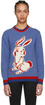 Gucci Blue Rabbit Knit Sweater