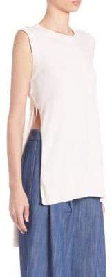 ADAM by Adam Lippes Solid Roundneck Top
