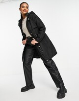 Thumbnail for your product : Brave Soul Egypt parka coat with hood in black