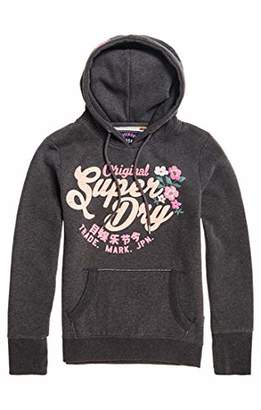 Superdry Women's Puff Floral Entry Sports Hoodie,(Size: 10)