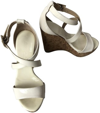 Jimmy Choo White Patent leather Sandals