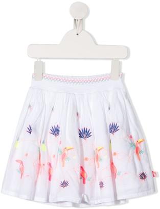 Billieblush Ruched-Waistband Embroidered Skirt
