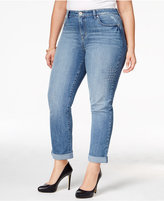 Style&Co. Style & Co Plus Size Embroidered Craft Wash Boyfriend Jeans, Only at Macy's