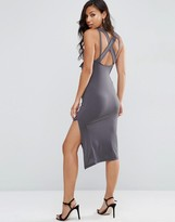 Asos Drape Cowl Midi Bodycon with Cross Back