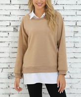 Z Avenue Women's Sweatshirts and Hoodies Portabella - Portabella Layered Sweatshirt - Women & Plus