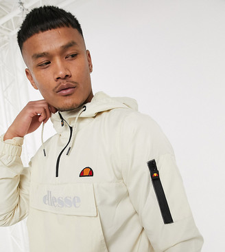 Ellesse Joli utility overhead reflective jacket in stone exclusive at ASOS