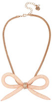 Betsey Johnson Confetti Rose Gold Bow Necklace