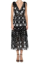 Self-Portrait Self Portrait Starlet Deco Sequin Tiered Midi Dress