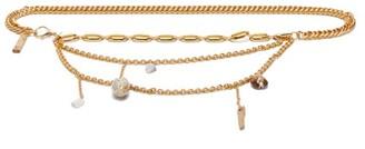 Marine Serre Charm-pendant Chain Belt - Womens - Gold