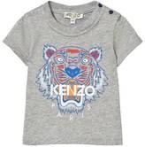 Kenzo Grey Marl Tiger Print Tee