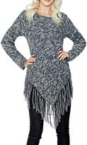 Adore Apparel Grey Fringe Sweater