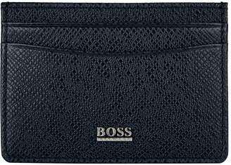 BOSS Leather Money Clip Card Holder