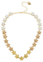 Betsey Johnson Glitter Faceted Stone Star Collar Necklace