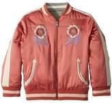 Stella McCartney Willow Embroidered Reversible Bomber Jacket Girl's Coat