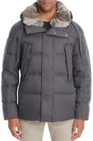 Andrew Marc Darien Rabbit Fur Trim Hooded Puffer Coat