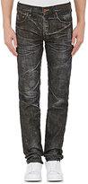 PRPS Men's Selvedge-Denim Distressed Jeans-Black Size 38