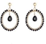 Coco & Kinney Black Spinel Willa Drop Earrings