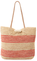 Mar y Sol Hampton Striped Raffia Tote