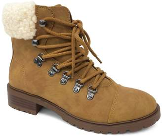 Lexi & Abbie Penny Faux Shearling-Trimmed Hiker Boots