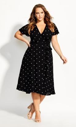 City Chic Sweet Doll Dress - black
