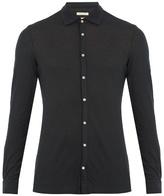 Massimo Alba Spread-collar Cotton And Cashmere-blend Shirt