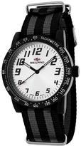Seapro SP5212NBK Women's Bold Black & Gray Nylon Watch