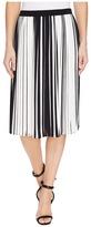 Vince Camuto Linear Accordion Stripe Pleated Skirt Women's Skirt