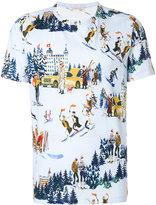 Moncler ski embroidered T-shirt