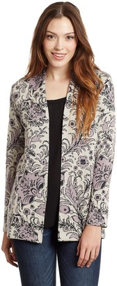 Invisible World Women's Cardigan Pima Cotton Lightweight Knitted Jacket Violet Lilac SM