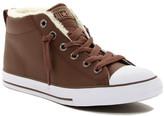 Converse Chuck Taylor Faux Fur Mid Sneaker (Little Kid & Big Kid)