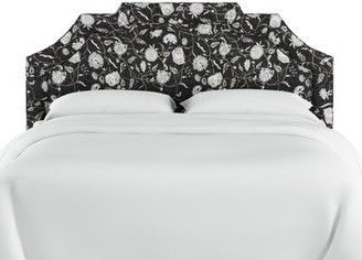 Dwyer Linen Upholstered Panel Headboard Darby Home Co Size: Twin, Upholstery: Black