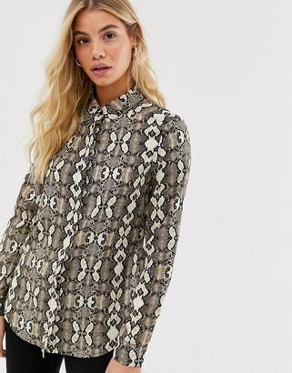 Brave Soul snake print shirt