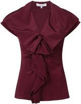 Carolina Herrera Ruffle front blouse - women - Silk - 4