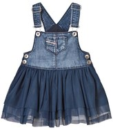 Diesel Blue Denim and Tulle Dungaree Dress