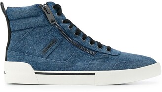 Diesel Side Zipped Hi-Top Sneakers