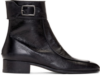 Saint Laurent Black Miles 30 Age Boots