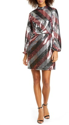 Ted Baker Jocasta Stripe Sequin Minidress
