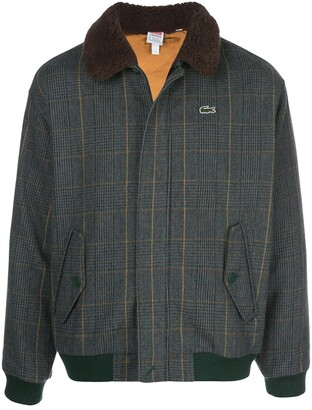 Lacoste x plaid bomber jacket