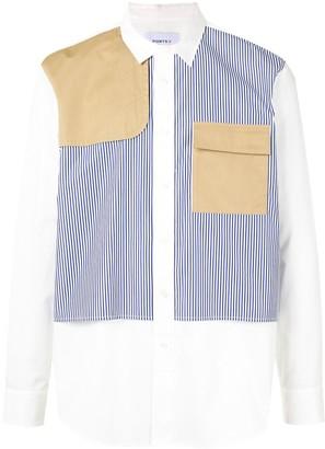 Ports V Long Sleeve Striped Panel Shirt