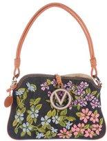 Valentino Floral Embroidered Shoulder Bag