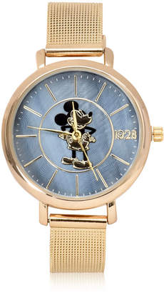Disney Collection Mickeys 90th Mickey Mouse Unisex Gold Tone Bracelet Watch-Mk8078jc