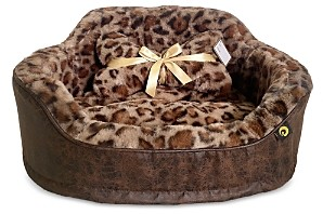 Precious Tails Leopard Print Princess Pet Bed