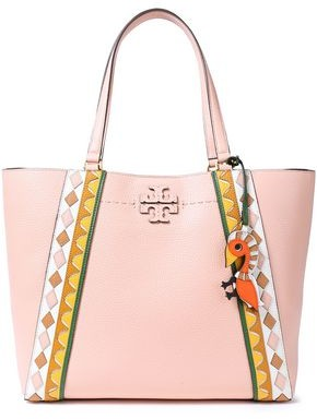 Tory Burch Logo-appliqued Textured-leather Tote