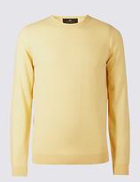 M&s Collection Pure Merino Wool Crew Neck Jumper