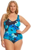 Anne Cole Signature Plus Size In Full Bloom VNeck One Piece Swimsuit - 8151765