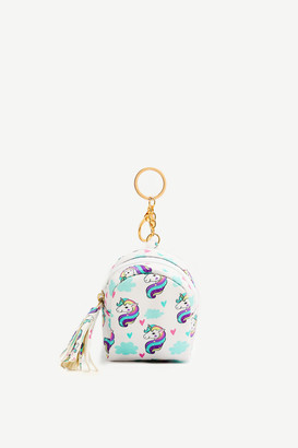 Ardene Unicorn Coin Purse Keychain for Girls