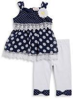 Little Lass Girls 2-6x Little Girls Polka Dot Tunic and Leggings Set