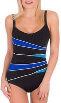 Roots Spliced One-Piece D-Cup Swimsuit